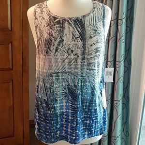 Pink Lotus muscle tee, multicolored, NWT